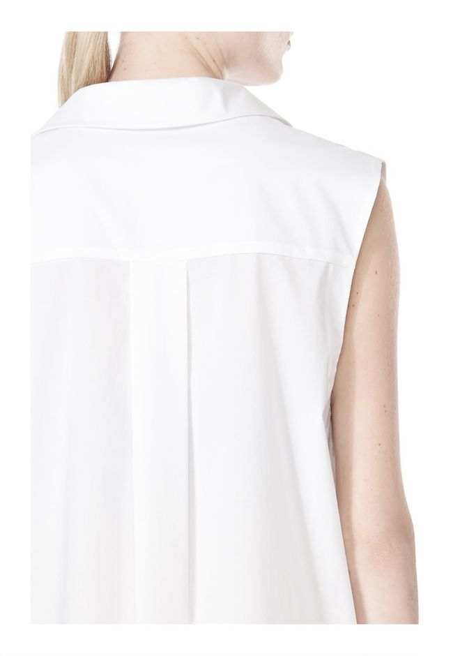 T by ALEXANDER WANG LOW V-NECK COLLARED SLEEVELESS TUNIC Short Dress Adult 12_n_a