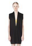 T by ALEXANDER WANG LOW V-NECK COLLARED SLEEVELESS TUNIC Short Dress Adult 8_n_d