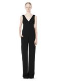 T by ALEXANDER WANG POLY CREPE V-NECK STRAP ROMPER Long dress Adult 8_n_f