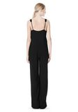 T by ALEXANDER WANG POLY CREPE V-NECK STRAP ROMPER Long dress Adult 8_n_r