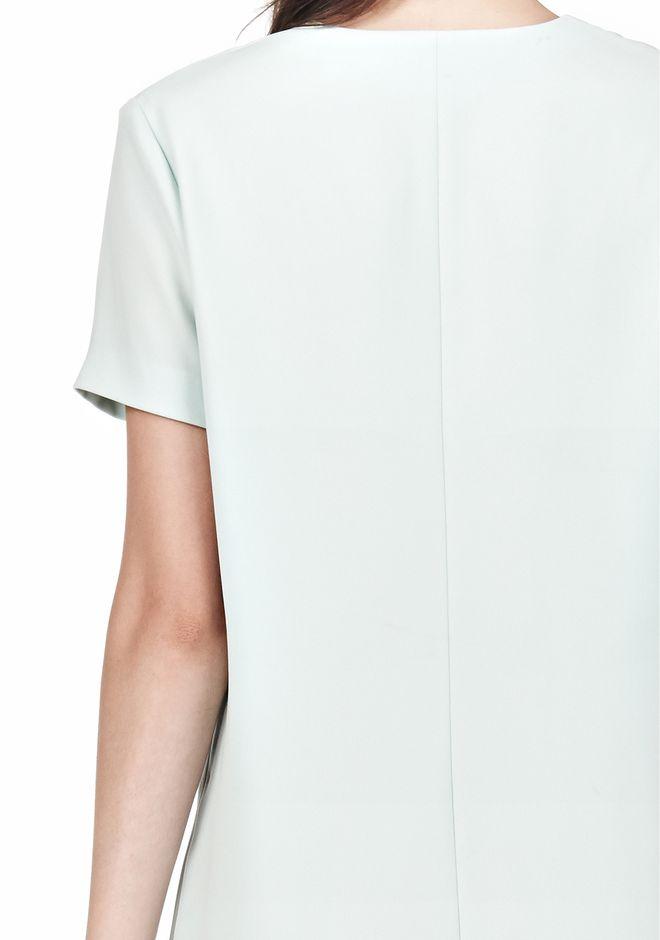 T by ALEXANDER WANG DRAPE SUITING VNECK DRESS Short Dress Adult 12_n_a