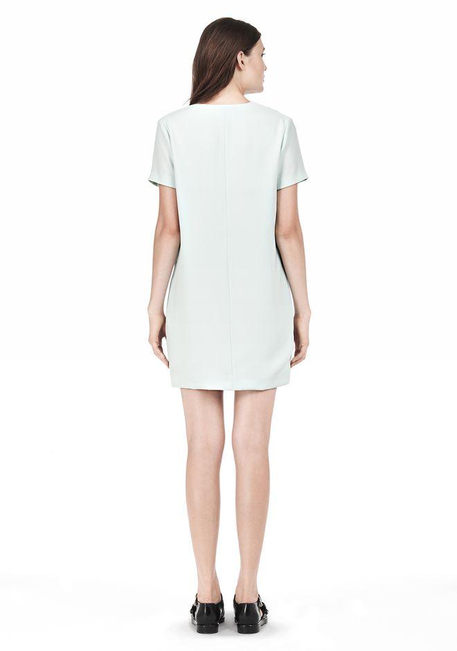 T by ALEXANDER WANG DRAPE SUITING VNECK DRESS Short Dress Adult 12_n_r