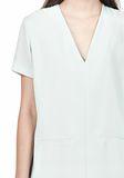 T by ALEXANDER WANG DRAPE SUITING VNECK DRESS Short Dress Adult 8_n_d