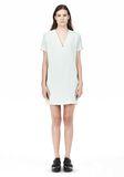 T by ALEXANDER WANG DRAPE SUITING VNECK DRESS Short Dress Adult 8_n_f