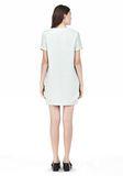 T by ALEXANDER WANG DRAPE SUITING VNECK DRESS Short Dress Adult 8_n_r