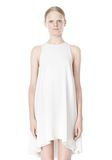 T by ALEXANDER WANG VISCOSE CREPE DRESS WITH LEATHER TRIM Short Dress Adult 8_n_d