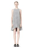 T by ALEXANDER WANG VISCOSE CREPE DRESS WITH LEATHER TRIM Short Dress Adult 8_n_f