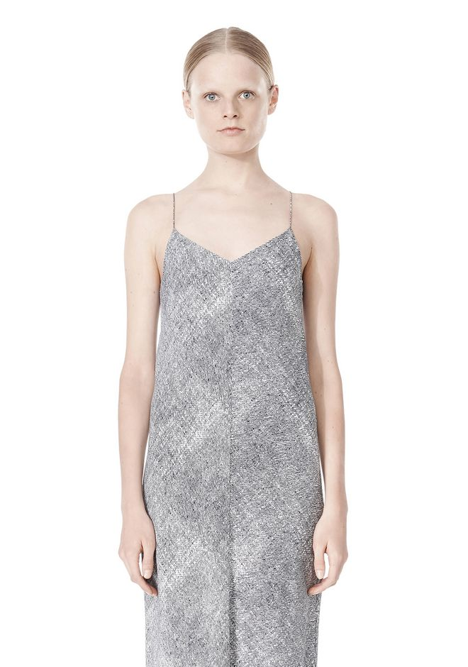 T by ALEXANDER WANG GEORGETTE SLIP DRESS 3/4 length dress Adult 12_n_d
