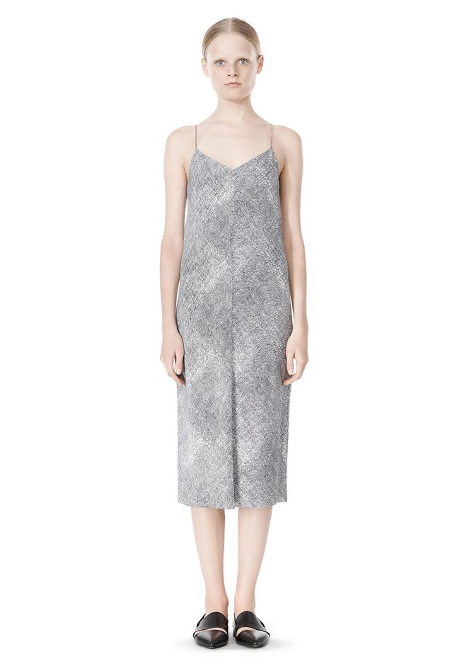 T by ALEXANDER WANG GEORGETTE SLIP DRESS 3/4 length dress Adult 12_n_f