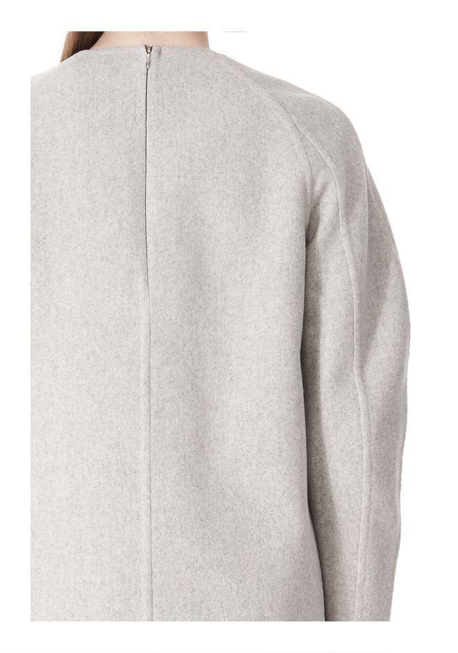 ALEXANDER WANG SWEATSHIRT DRESS WITH SHIRT TAIL HEM 3/4 length dress Adult 12_n_a