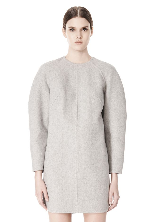 ALEXANDER WANG SWEATSHIRT DRESS WITH SHIRT TAIL HEM 3/4 length dress Adult 12_n_d