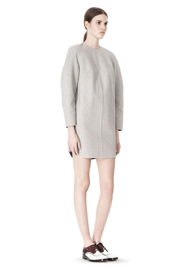 ALEXANDER WANG SWEATSHIRT DRESS WITH SHIRT TAIL HEM 3/4 length dress Adult 12_n_e