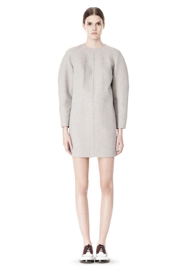 ALEXANDER WANG SWEATSHIRT DRESS WITH SHIRT TAIL HEM 3/4 length dress Adult 12_n_f