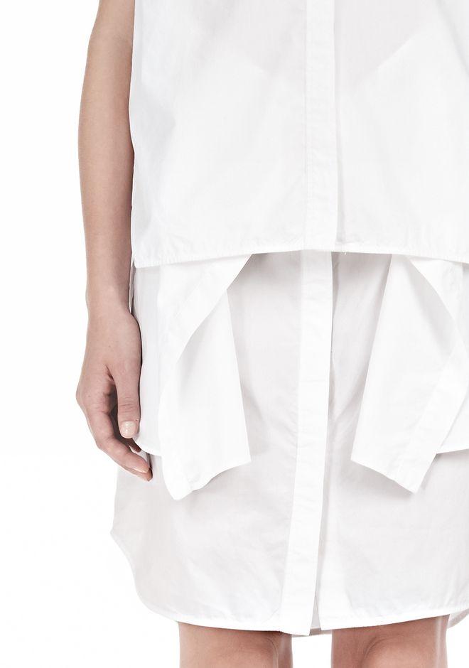 ALEXANDER WANG DOUBLE SLEEVE POPLIN SHIRTDRESS  Short Dress Adult 12_n_a