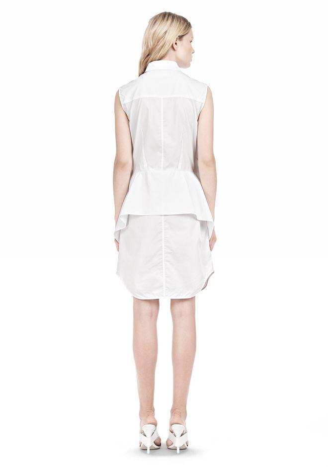 ALEXANDER WANG DOUBLE SLEEVE POPLIN SHIRTDRESS  Short Dress Adult 12_n_r