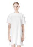 T by ALEXANDER WANG COTTON CREWNECK DRESS WITH FRAYED HEM Short Dress Adult 8_n_d