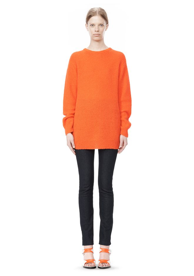 T by ALEXANDER WANG MOHAIR KNIT TUNIC DRESS TOP Adult 12_n_f