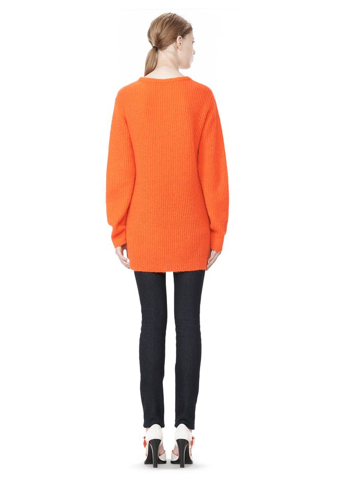 T by ALEXANDER WANG MOHAIR KNIT TUNIC DRESS TOP Adult 12_n_r