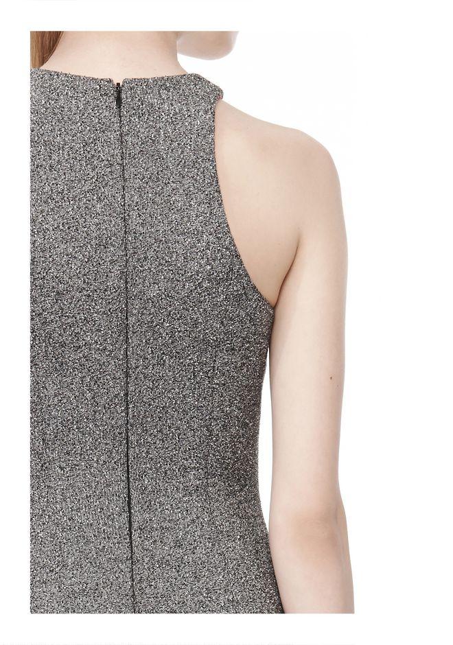 T by ALEXANDER WANG MESH BONDED NEOPRENE SLEEVELESS DRESS Short Dress Adult 12_n_a