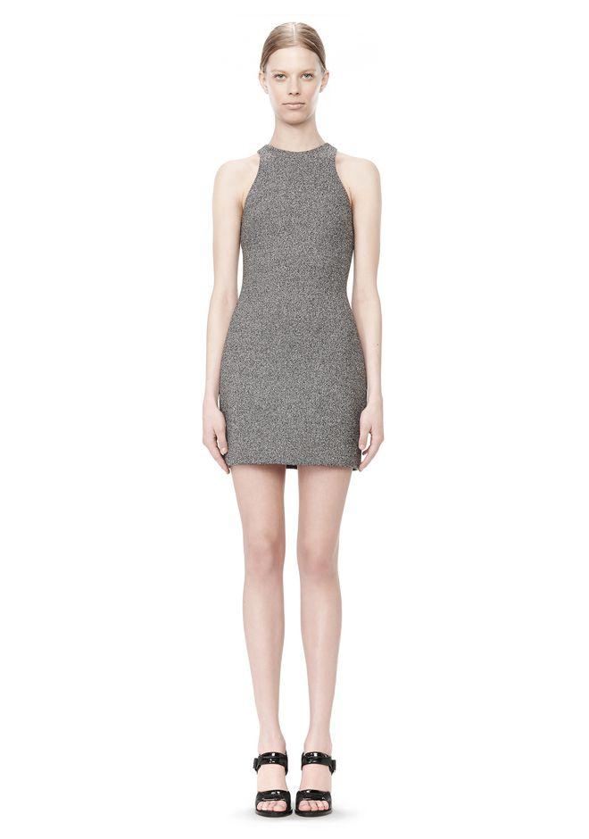 T by ALEXANDER WANG MESH BONDED NEOPRENE SLEEVELESS DRESS Short Dress Adult 12_n_f