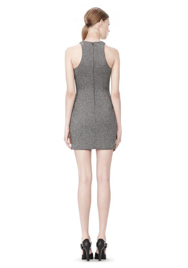 T by ALEXANDER WANG MESH BONDED NEOPRENE SLEEVELESS DRESS Short Dress Adult 12_n_r