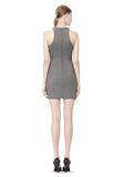 T by ALEXANDER WANG MESH BONDED NEOPRENE SLEEVELESS DRESS Short Dress Adult 8_n_r