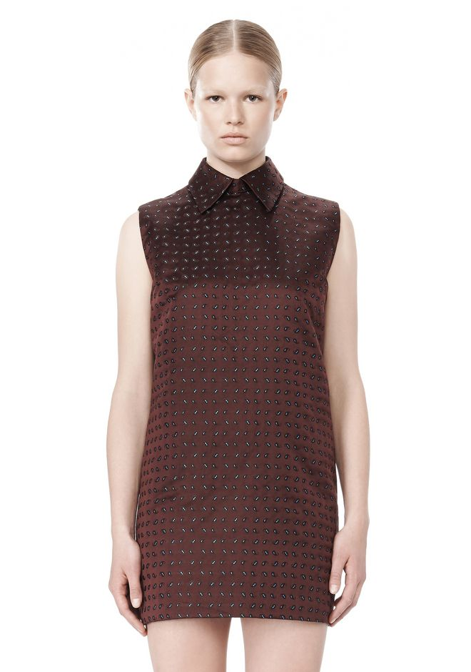ALEXANDER WANG SHORT SLEEVE TUNIC DRESS WITH SHIRT COLLAR Short Dress Adult 12_n_d