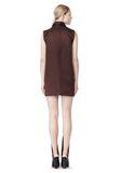 ALEXANDER WANG SHORT SLEEVE TUNIC DRESS WITH SHIRT COLLAR Short Dress Adult 8_n_r