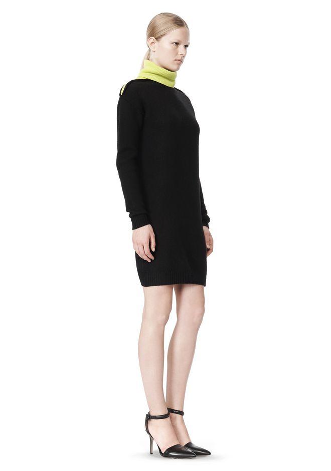 ALEXANDER WANG SPLITTABLE TURTLENECK DRESS KNIT DRESS Adult 12_n_e
