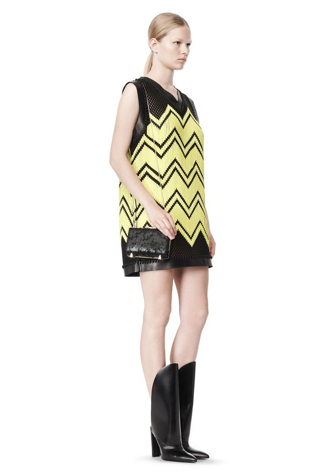 ALEXANDER WANG V-NECK DRESS WITH SHOE LACE EMBROIDERY Short Dress Adult 12_n_e