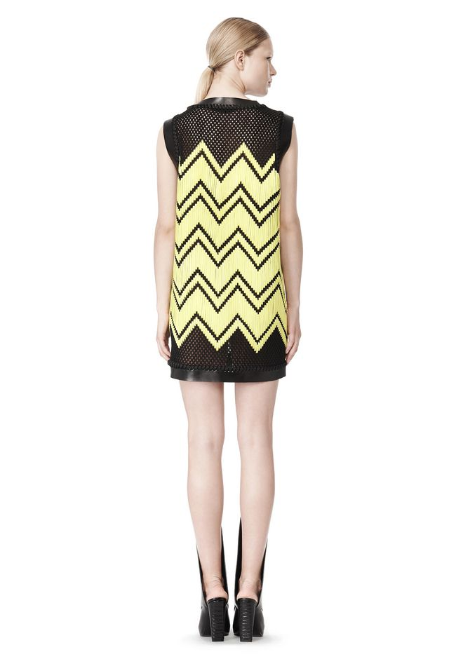 ALEXANDER WANG V-NECK DRESS WITH SHOE LACE EMBROIDERY Short Dress Adult 12_n_r