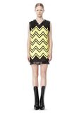 ALEXANDER WANG V-NECK DRESS WITH SHOE LACE EMBROIDERY Short Dress Adult 8_n_f