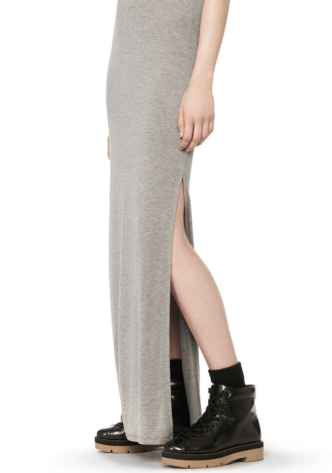 T by ALEXANDER WANG CLASSIC TANK DRESS WITH CHEST POCKET  Long dress Adult 12_n_a
