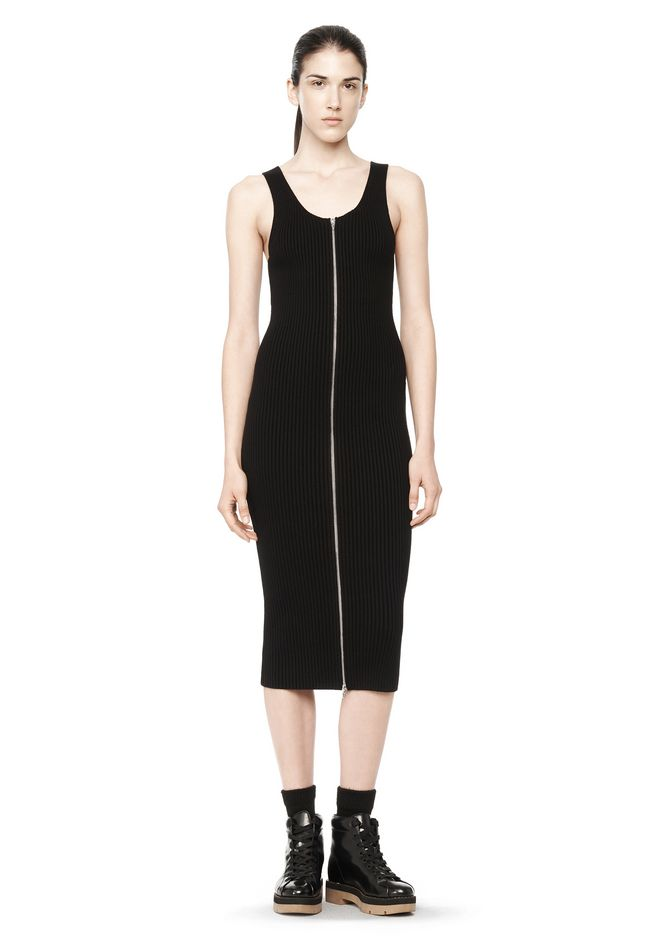 Black Rib Logo Dress Alexander Wang 7p9a4Z