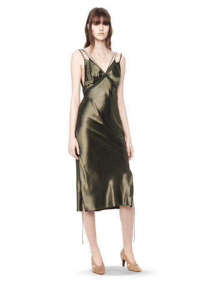 Fresh Alexander Wang SATIN SLIP DRESS 3/4 Length Dress |Official Site SD06
