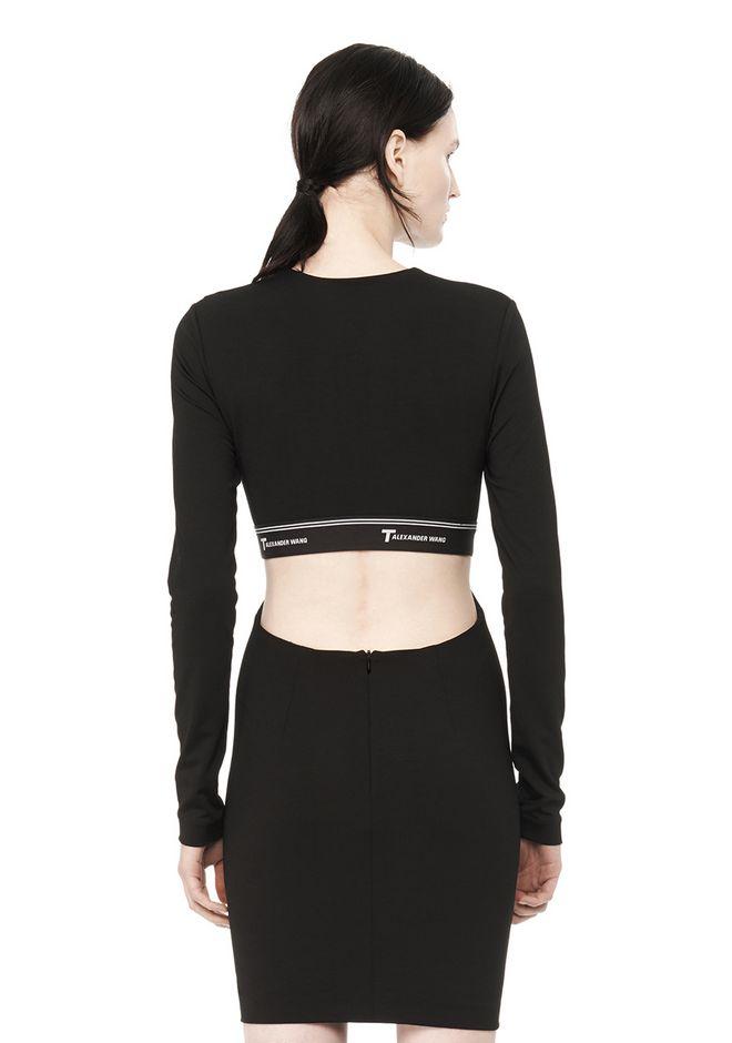 T By Alexander Wang Woman Ponte Mini Dress Black Size 6 Alexander Wang 37Z0R