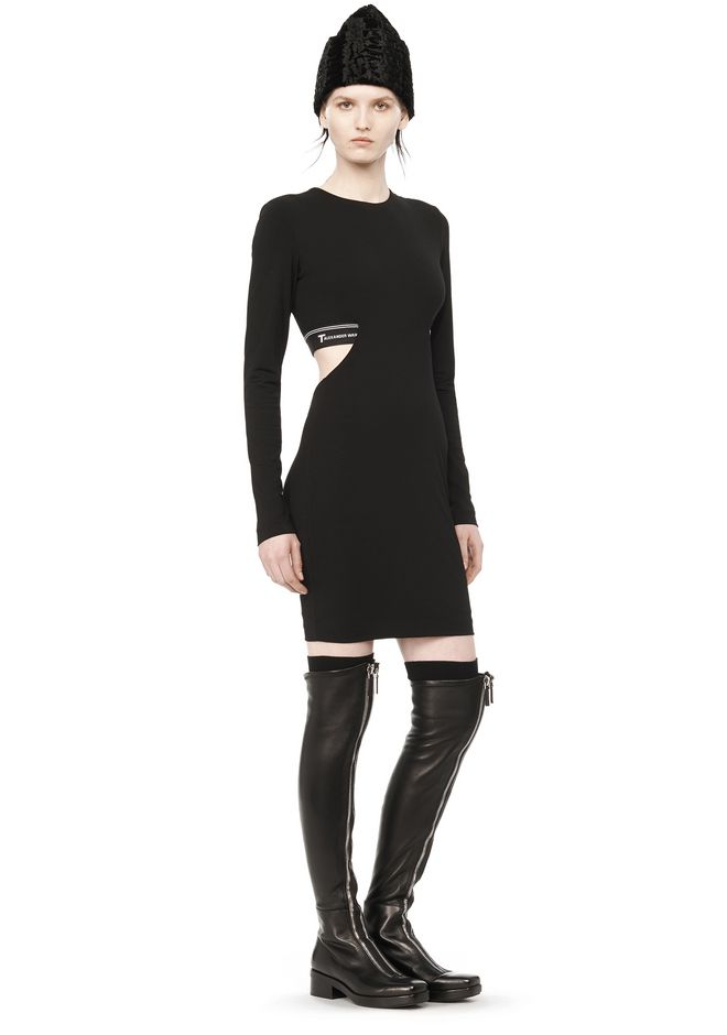 Order For Sale Clearance Affordable T By Alexander Wang Woman Ponte Mini Dress Black Size 2 Alexander Wang Outlet Footlocker Pictures tVmqN1u2