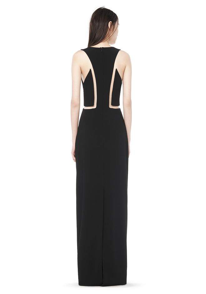Alexander Wang FISHLINE V NECK GOWN Long Dress  Official Site