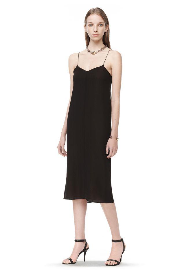 T By Alexander Silk Georgette Cdc Slip Dress 3 4 Length