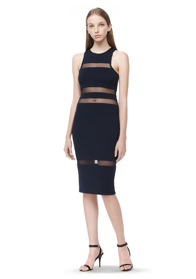 Outlet 2018 Unisex Low Shipping Cheap Price T By Alexander Wang Woman Ponte Mini Dress Black Size 4 Alexander Wang Good Selling Discount Official uapqGKyd