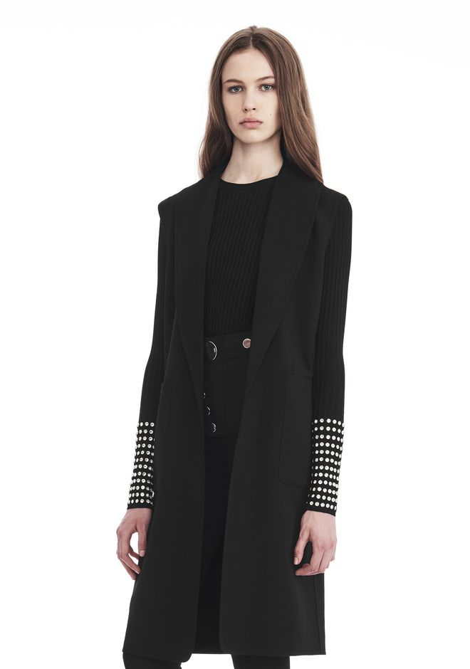 ALEXANDER WANG OVERSIZED LONG VEST JACKETS AND OUTERWEAR  Adult 12_n_a