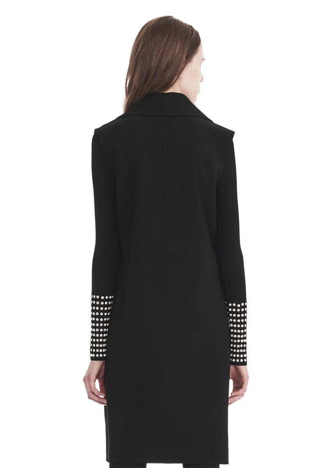 ALEXANDER WANG OVERSIZED LONG VEST JACKETS AND OUTERWEAR  Adult 12_n_d