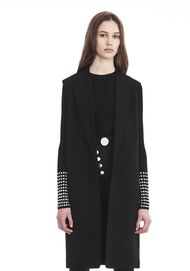 ALEXANDER WANG OVERSIZED LONG VEST JACKETS AND OUTERWEAR  Adult 12_n_e