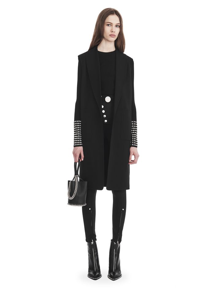 ALEXANDER WANG OVERSIZED LONG VEST JACKETS AND OUTERWEAR  Adult 12_n_f