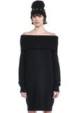 T by ALEXANDER WANG CASHWOOL KNIT OFF THE SHOULDER PULLOVER DRESS  KNIT DRESS Adult 8_n_e