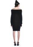 T by ALEXANDER WANG CASHWOOL KNIT OFF THE SHOULDER PULLOVER DRESS  KNIT DRESS Adult 8_n_r