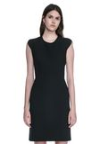 ALEXANDER WANG FITTED PENCIL DRESS WITH CAP SLEEVE  AND CONTOURED SEAMS 3/4 length dress Adult 8_n_e