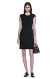 ALEXANDER WANG FITTED PENCIL DRESS WITH CAP SLEEVE  AND CONTOURED SEAMS 3/4 length dress Adult 8_n_f