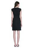 ALEXANDER WANG FITTED PENCIL DRESS WITH CAP SLEEVE  AND CONTOURED SEAMS 3/4 length dress Adult 8_n_r