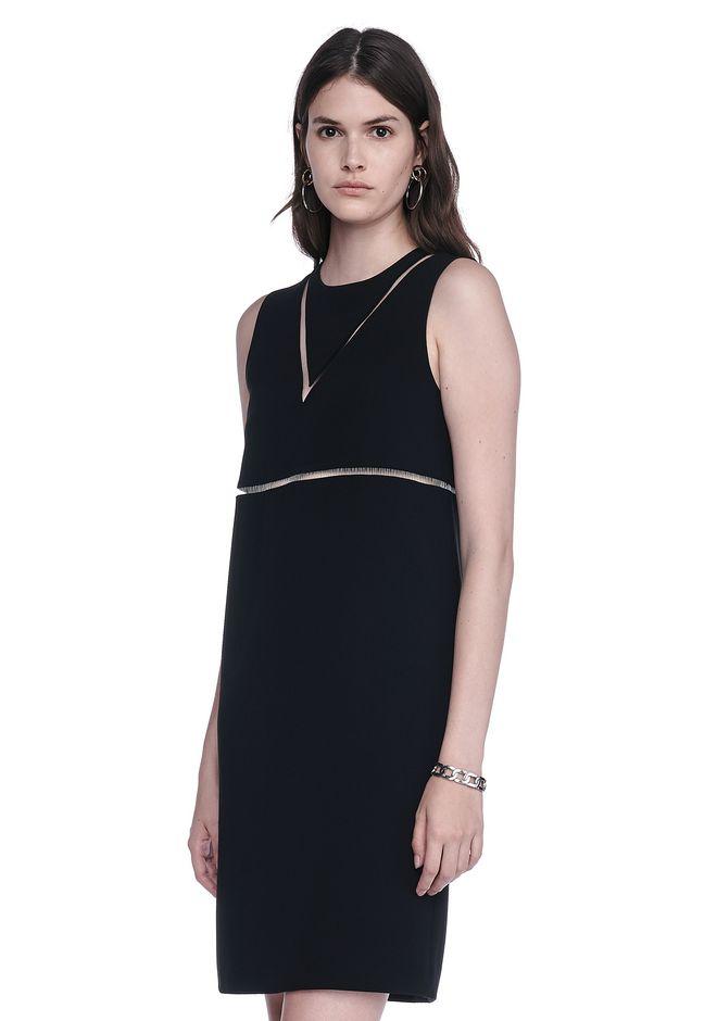 ALEXANDER WANG FISH LINE STRAIGHT CUT DRESS  Short Dress Adult 12_n_a